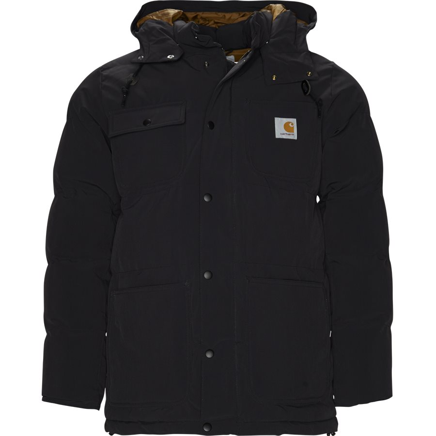 ALPINE COAT I023081 - Alpine Coat - Jakker - Regular - BLK/HAM. BROWN - 1